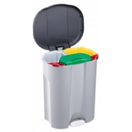 43 Litre Pedal Operated 5 Compartment Recycle Bin