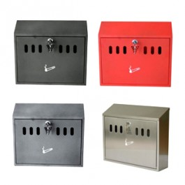 Wall Mounted Cigarette Bin, C/W lock And Inner Liner