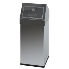 Carro-Push Aluminium Waste Bin 55 Litres