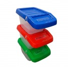 Stackable Recycling Bin with Hinged Lid 30 Litres