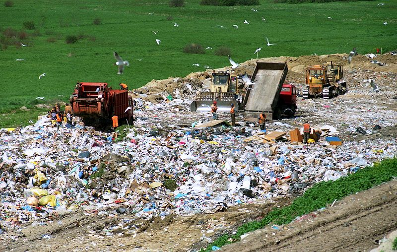 A landfill is just a dump where items are permanently