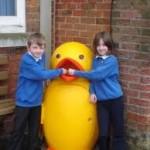 Duck school bin