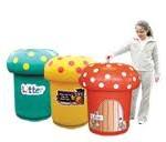 Mushroom bins for schools