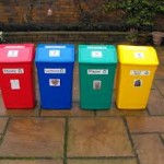 basic coloured bins