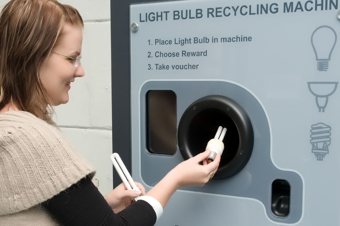 brighton howe adds energy saving light bulbs to recycling efforts. Black Bedroom Furniture Sets. Home Design Ideas