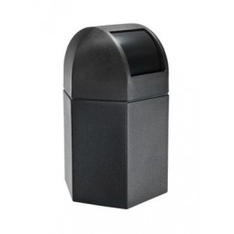 170 Litre Hexagonal Waste Container with Domed Lid