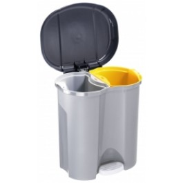 20 Litre Pedal Operated 2 Compartment Bin