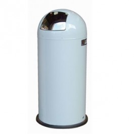 Retro Push Bin Baby Blue (40 Ltr)