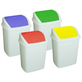 50 Litre Swing Top Bin with Coloured Lids