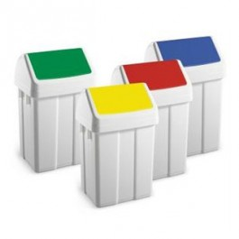 Swing top bin with coloured lids (50 Ltr)