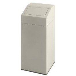 Metal Waste Bin with Push Lid 76 Litres