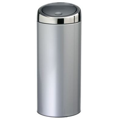brabantia 30 litre touch kitchen bin in brilliant steel. Black Bedroom Furniture Sets. Home Design Ideas