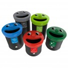Smiley Face Recycling Bin in 3 Sizes
