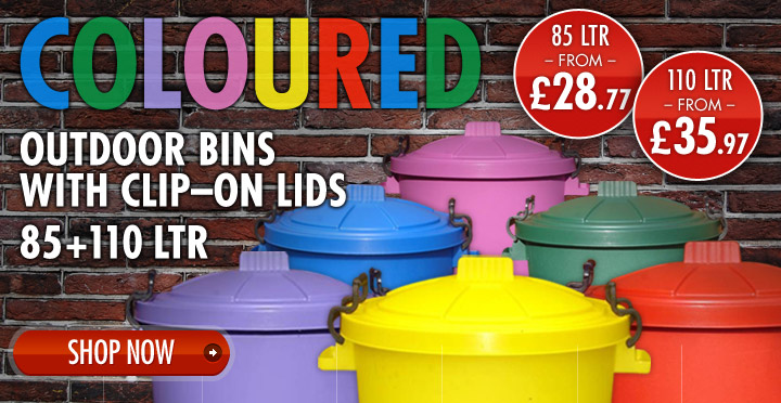 Coloured Outdoor Dustbins